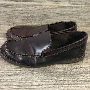Timberland leather slip on loafers shoes